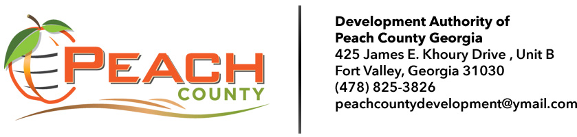 Development Authority of  Peach County Georgia | 425 James E. Khoury Drive | Unit B | Fort Valley, Georgia 31030 | (478) 825-3826 | peachcountydevelopment@ymail.com