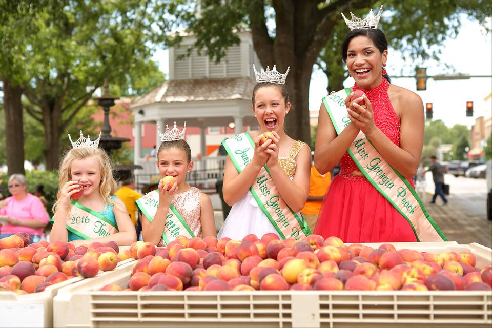 2016 Peach Festival celebration in downtown Fort Valley, Georgia.